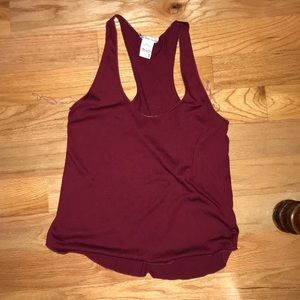 Maroon Tank Top size Small
